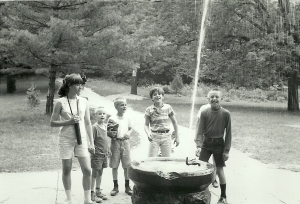 I'm the Pied Piper, follow me! Me and some sibs in about 1969, vacationing in Missouri.