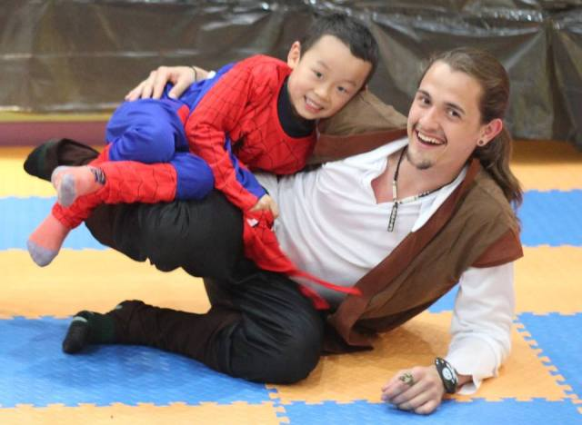Josh teaches pre-school in a cool program in China,among other things and the locals think he looks like Orlando Bloom. He does appear like a fun pirate here!